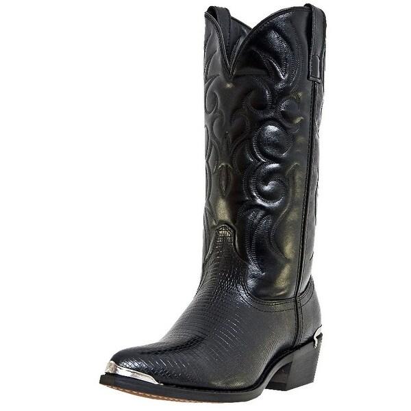 Laredo Western Boots Mens Cowboy Atlanta Faux Lizard Black