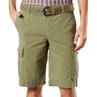 Dockers NEW Light Green Mens Size 40 Classic-Fit Cargo Stretch Shorts