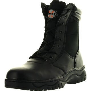 Mens 1009Bl Tactical Boots Black Side Zipper 8 Combat Military Swat Work Shoes""