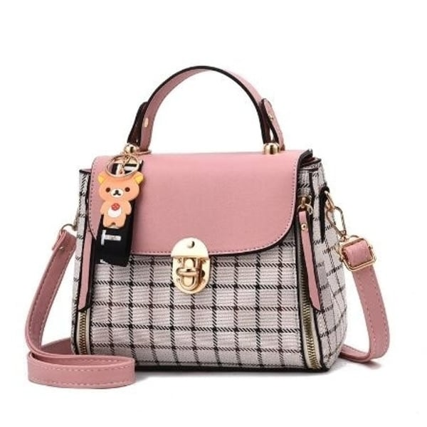 c26f38a9bcd2 Shop Checkered Pattern Handbag - Free Shipping On Orders Over  45 ...