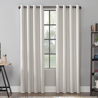 Link to Scott Living Mavis Herringbone Total Blackout Grommet Curtain Panel Similar Items in Curtains & Drapes