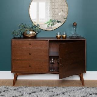 Carson Carrington  Saltor Walnut Finish 52-inch Mid-century Buffet (Walnut)