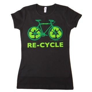 Women's Bicycle Re-cycle T Shirt, Black