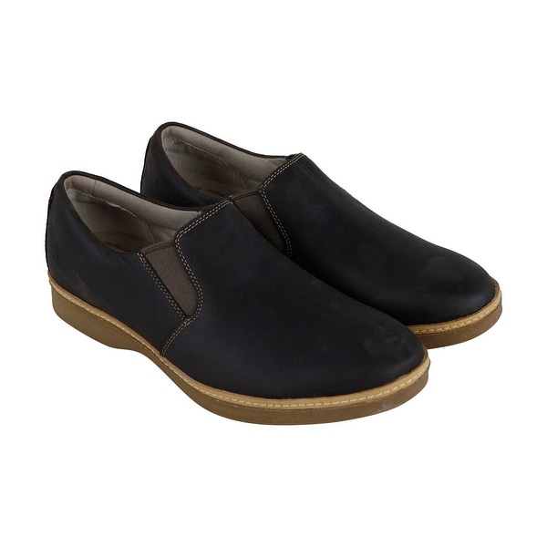 467e33a89d6 Shop Ahnu Clay Mens Black Leather Casual Dress Slip On Loafers Shoes - Free  Shipping Today - Overstock - 27914129
