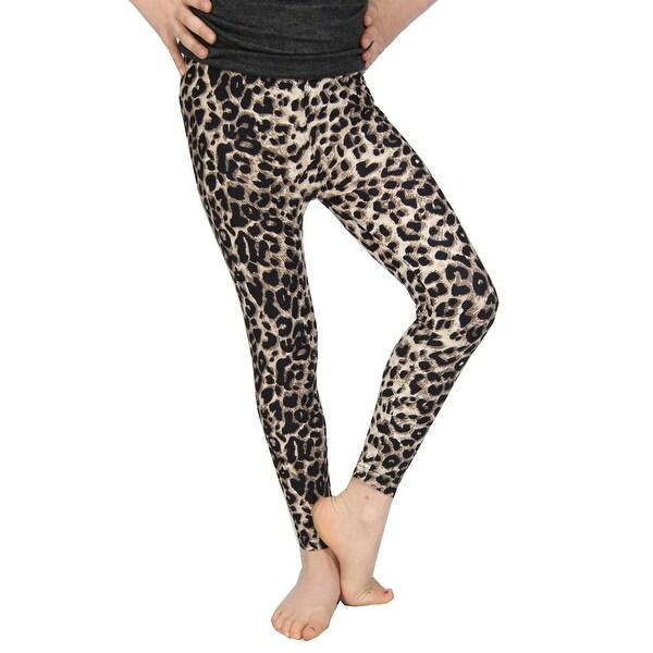 734966b84f7dd Lori & Jane Girls Tan Animal Print Stretchy Trendy Soft Leggings