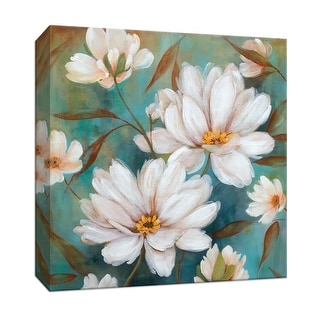 """PTM Images 9-146809  PTM Canvas Collection 12"""" x 12"""" - """"Lotus Pool I"""" Giclee Flowers Art Print on Canvas"""