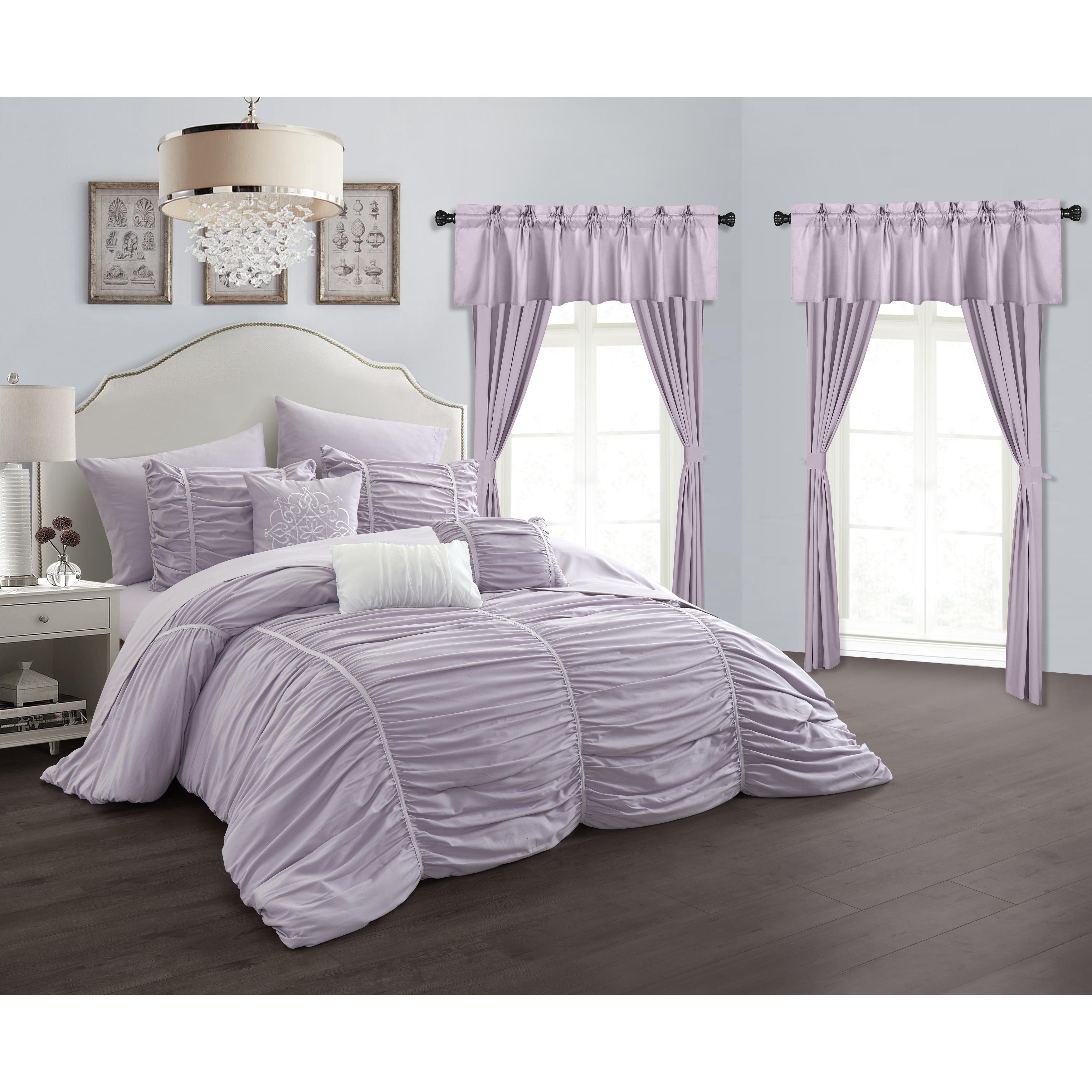 Chic Home Hallstatt 20 Piece Comforter Set Designer Bed In A Bag Bedding Lilac On Sale Overstock 20759629