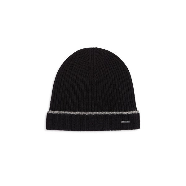 7671e9e6f2610a Shop BOSS Hugo Boss Fati 01 Beanie Hat Wool Knit - O/S - Free Shipping On  Orders Over $45 - Overstock - 26879373