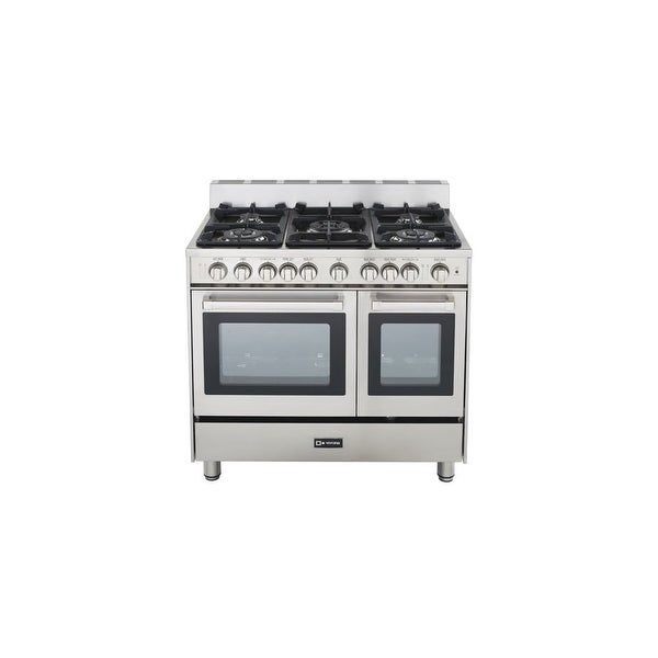 shop verona vefsgg365nd 36 double oven gas range stainless steel free shipping today. Black Bedroom Furniture Sets. Home Design Ideas