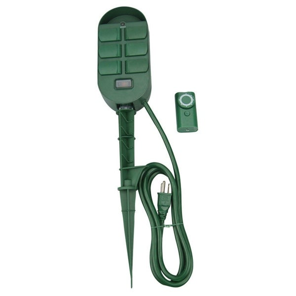 Coleman Cable 59785 Power Stake With Built In Timer And Remote