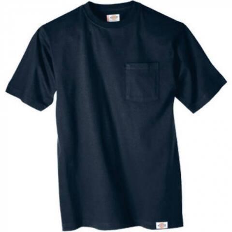 Dickies 1144624DNXL Men's Short Sleeve Pocket T-Shirt, XL, Dark Navy, 2-Pack