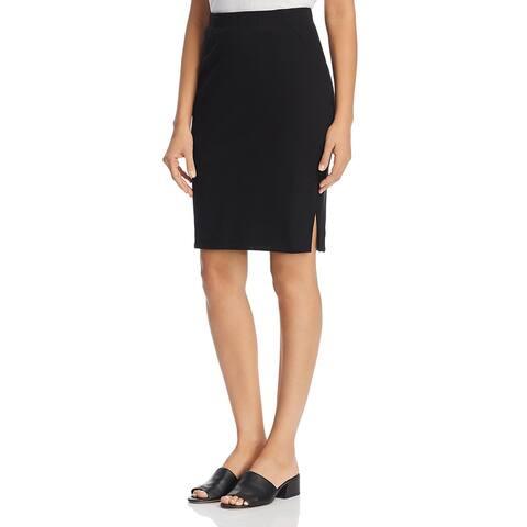 Eileen Fisher Womens Pencil Skirt Organic Cotton Mini