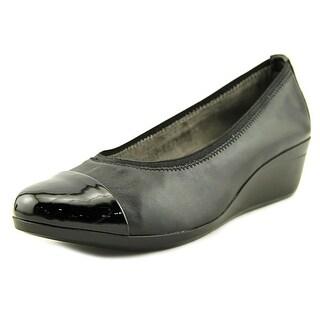 Aerosoles True Blue Women  Open Toe Synthetic Black Wedge Heel