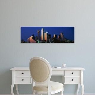 Easy Art Prints Panoramic Images's 'Night, Cityscape, Dallas, Texas, USA' Premium Canvas Art