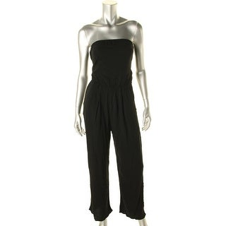 Olivaceous Womens Jumpsuit Open Back Strapless