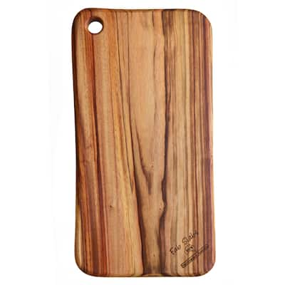 "FabSlabs Natural Wood Camphor Laurel Medium Premium Hygienic Cutting Board, 17.72"" x 9.05"""