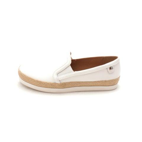 Carlos by Carlos Santana Womens PARK Leather Low Top Slip On Walking Shoes - 6