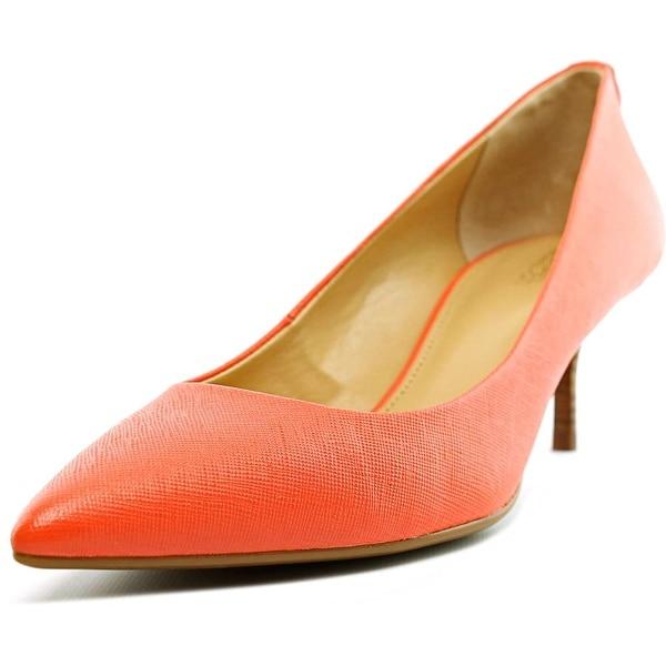 e4b1dd56501b Michael Michael Kors Flex Kitten Pump Women Pointed Toe Leather Pink Heels