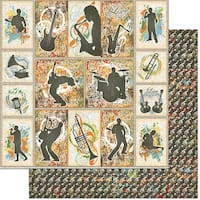 "Teenagers Double-Sided Cardstock 12""X12""-Music"
