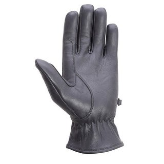 Unisex Soft Cowhide Leather Driving, Formal Dress Fashion Everyday Gloves Lined Black FG3