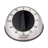 Taylor 5830 Pro Mechanical Timer, Stainless Steel, Silver