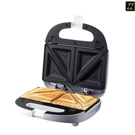 ZZ S6141 Removable Sandwich Maker with Non-Stick Plates, White