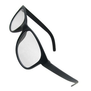 Black Rubberized Plastic Full Frame Clear Lens Eyeglasses
