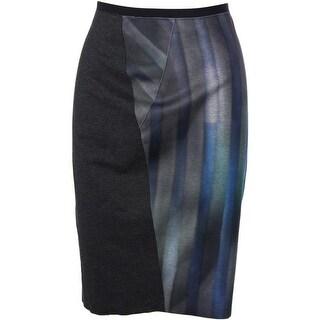 Elie Tahari Womens Arianna Ponte Heathered Pencil Skirt