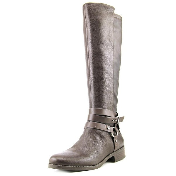 BCBGeneration Kai Women Round Toe Leather Brown Knee High Boot