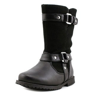 Rachel Shoes Lil Cortland Youth Round Toe Synthetic Black Boot