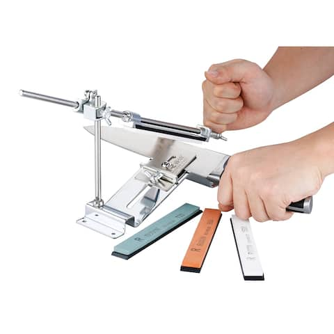 Knife Sharpener Professional Kitchen Sharpening System Fix-angle With 4 Stone III