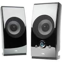 Cyber Acoustics Surround Powered Speaker System Bookshelf Home Speaker, Set Of 2, Black (Ca-2027)