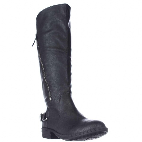 AR35 Asher Knee High Riding Boots - Black