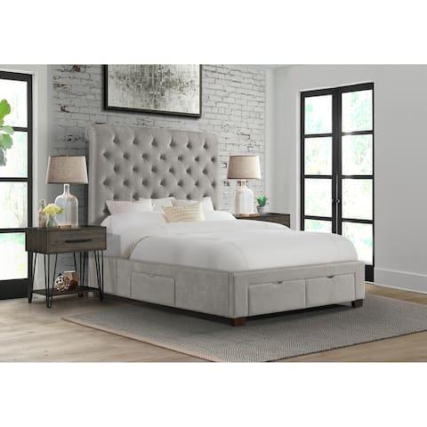 Picket House Furnishings Jeremiah King Upholstered Storage Bed
