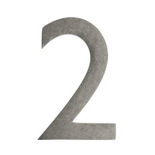 Architectural Mailboxes 3585-2 5 Inch Solid Cast Hand Finished Brass House Numbers (5 options available)