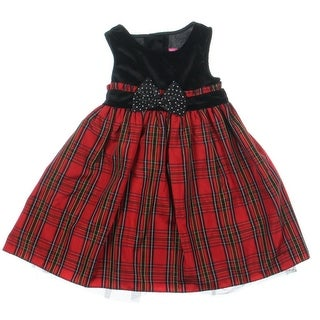 Good Lad Velvet Glitter Party Dress - 2T