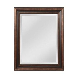 "Mirror Masters MW4105B Gastonia 45"" Rectangular Mirror with Decorative Frame - Walnut/Black - N/A"