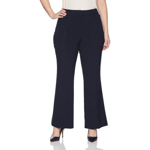 Briggs Women's Dress Pants Navy Blue Size 16W Plus Bootcut Stretch