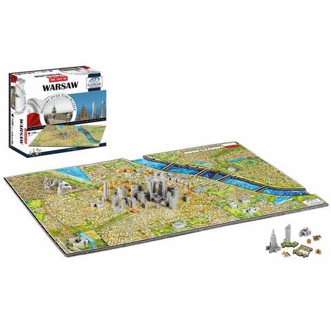 4D Cityscape Puzzle - Warsaw, Poland - Multicolor