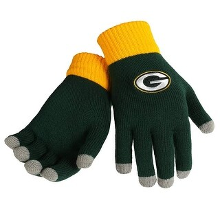 Green Bay Packers Knit Color Block Gloves