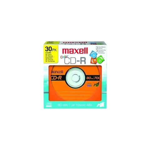 Maxell 648451 30pk cdr 700 w/sleeves