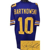 75ec6bcf0 Steve Bartkowski signed Blue TB Custom Stitched College Football Jersey XL  JSA Witnessed Hologram