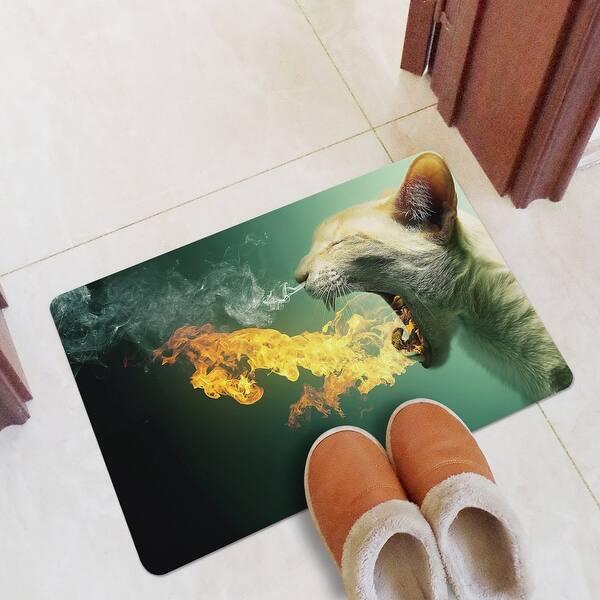 Shop ChezMax Non-slip Doormat Rubber Indoor Outdoor Kitchen ...