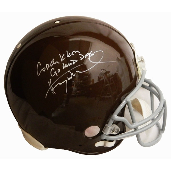 de3cd55b4 Shop Henry Winkler The Waterboy Mud Dogs Brown Riddell Authentic Helmet  wCoach Klein Go Mud Dogs - Free Shipping Today - Overstock - 18507931