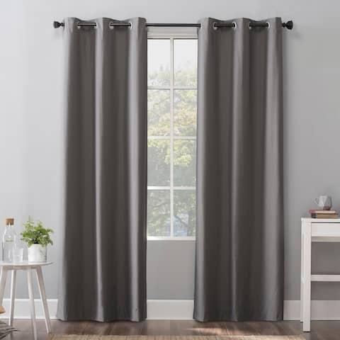 Sun Zero Cyrus Thermal 100% Total Blackout Grommet Curtain Panel