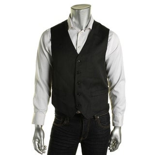 Tommy Hilfiger Mens Hayes Trim Fit Worsted Wool Suit Vest - L