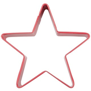 """Metal Cookie Cutter 3""""-Star - Red"""