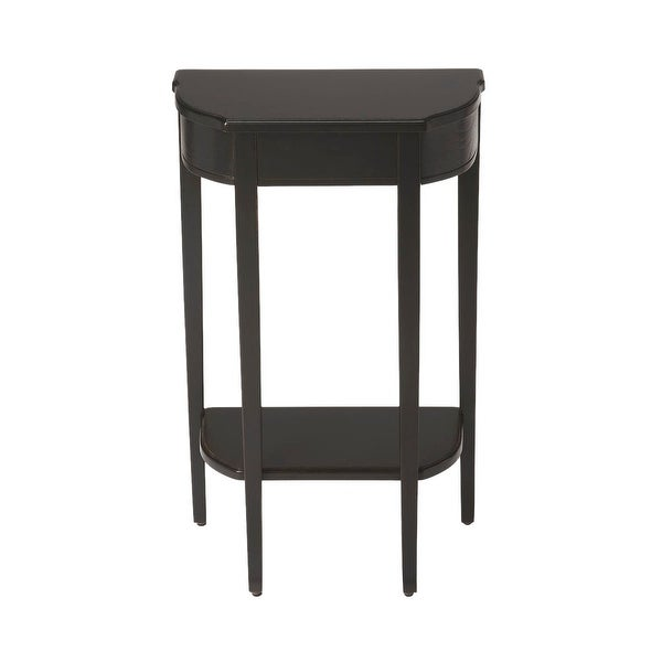 Offex Wendell Black Licorice Demilune Console Table