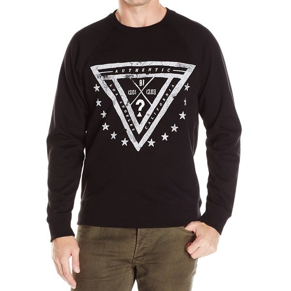Shop Guess New Black Mens Size Small S Triangle Graphic Crewneck