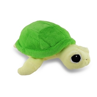 Furry Green Sea Turtle Shaped Plush Childrens Accent Pillow 16 in.